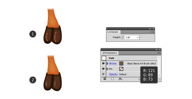 how to highlight the hoof of the reindeer