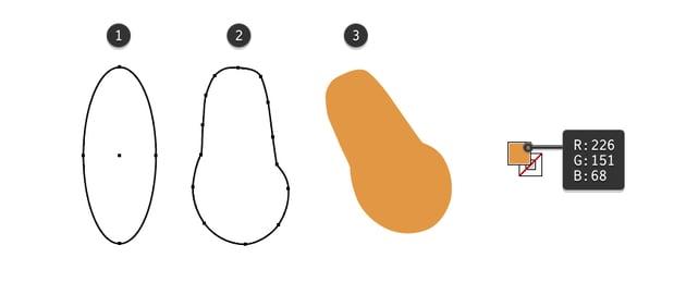 how to create the reindeer head shape