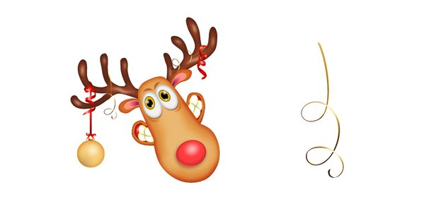 how to add more golden curls in reindeers horns