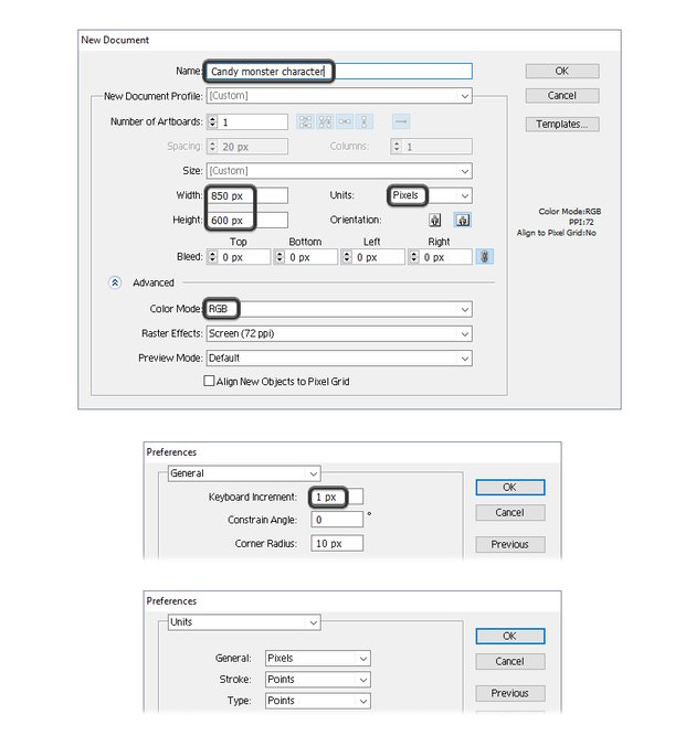 how to open a new illustrator document