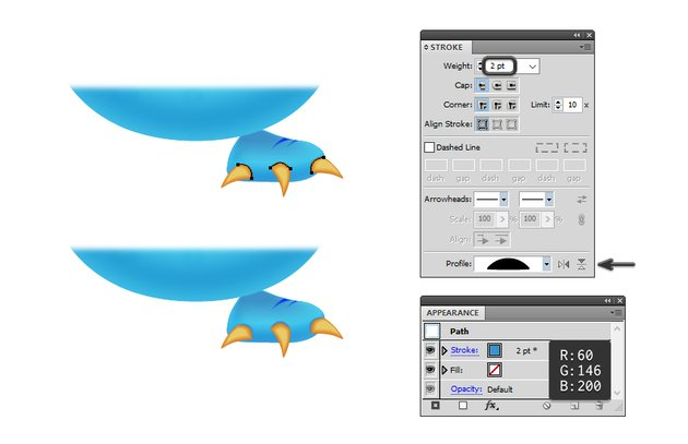 how to add shadow at the base of the foot claws