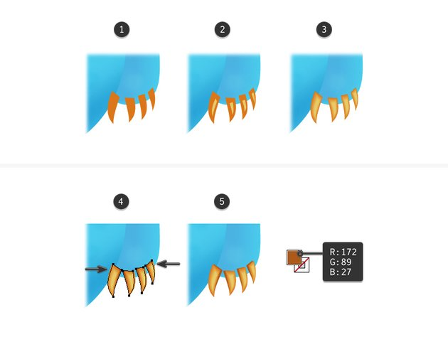 how to create the right arm claws of the monster