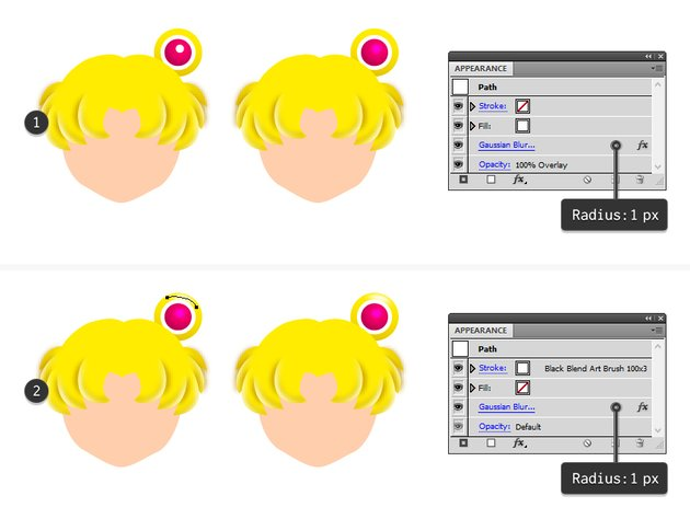 how to highlight sailor moons right hair circle