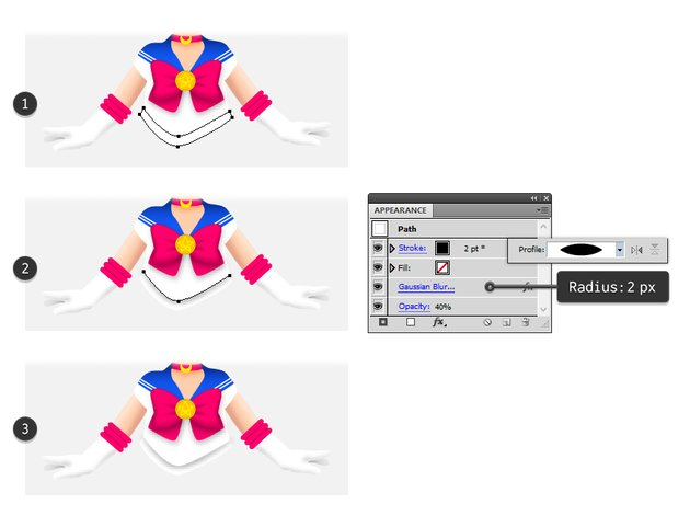 how to draw sailor moons waist