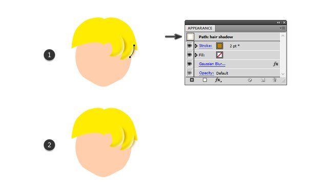 how to add shadow to sailor moons second piece of bangs