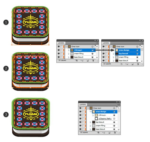 how to expand the Oreo icon