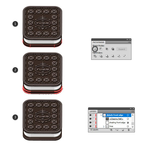 how to mask details on Oreo base biscuit