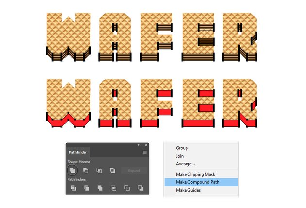 how to create a wafer layers compound path