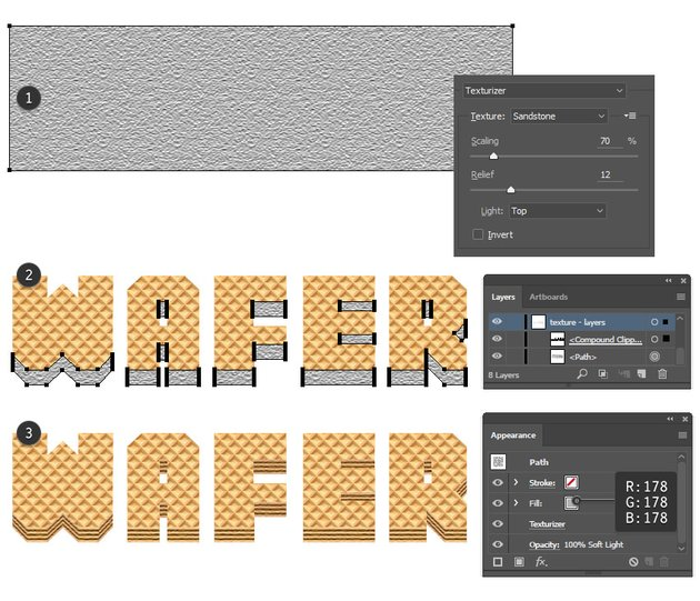 how to add texture on wafer layers