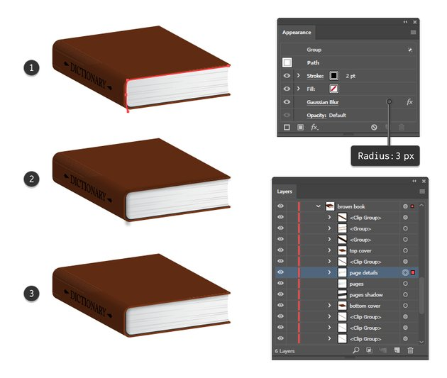 how to add shadow on book pages