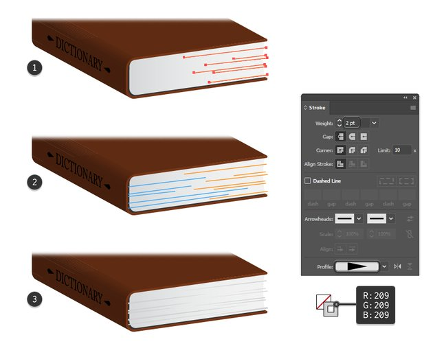 how to add details on book pages