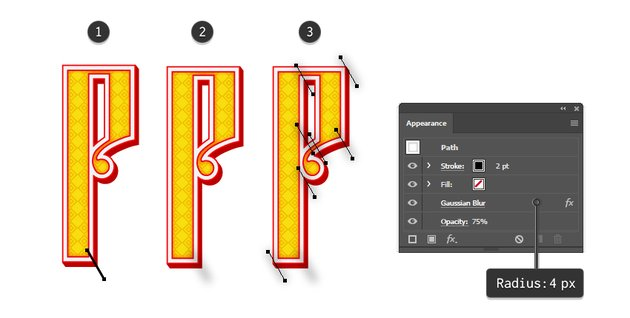 how to create shading on Russian vector letter