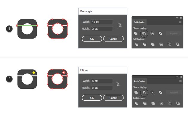 how to add details on the Instagram vector logo shape