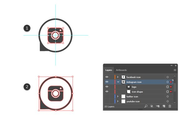 how to complete the Instagram vector icon