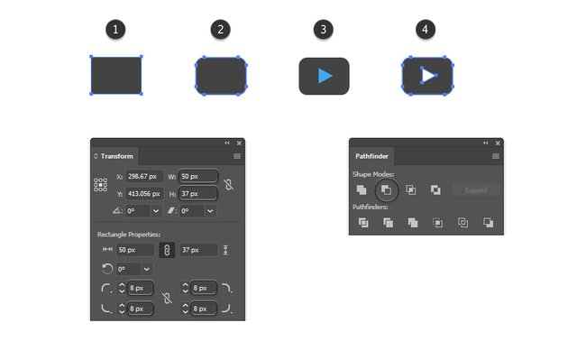 how to create the YouTube vector logo