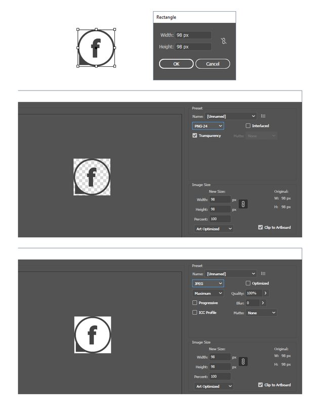 how to save social media vector icons