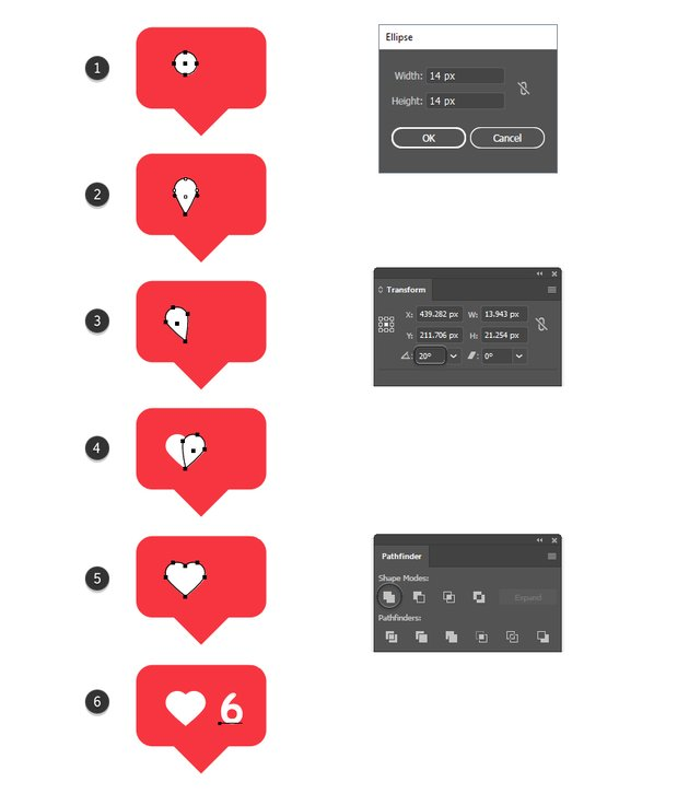 how to create a vector new likes icon