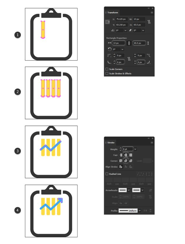 how to make a chart minimal icon