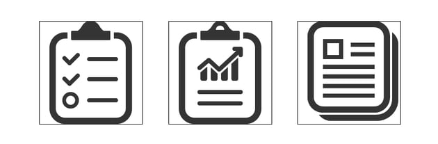 final clipboard chart pages icon design