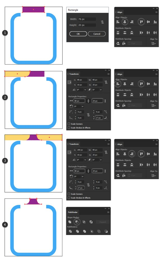 how to make a clip minimal icon