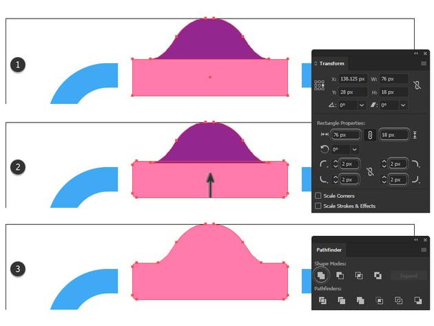 how to unite the clip minimal icon
