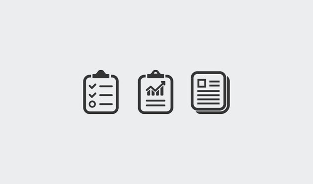 how to make minimal report icons