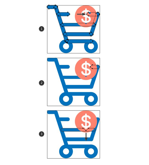 how to adjust the purchase icon