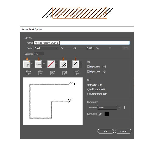 how to save a vintage pattern brush in Illustrator