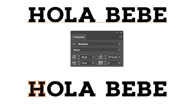 how to create the block letter font in Illustrator