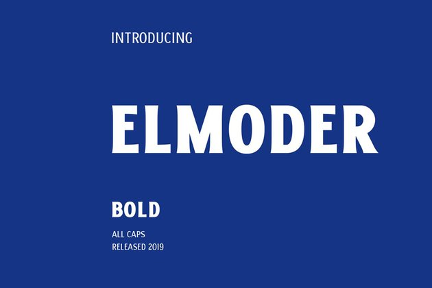 Elmoder Font recommended from Envato Elements