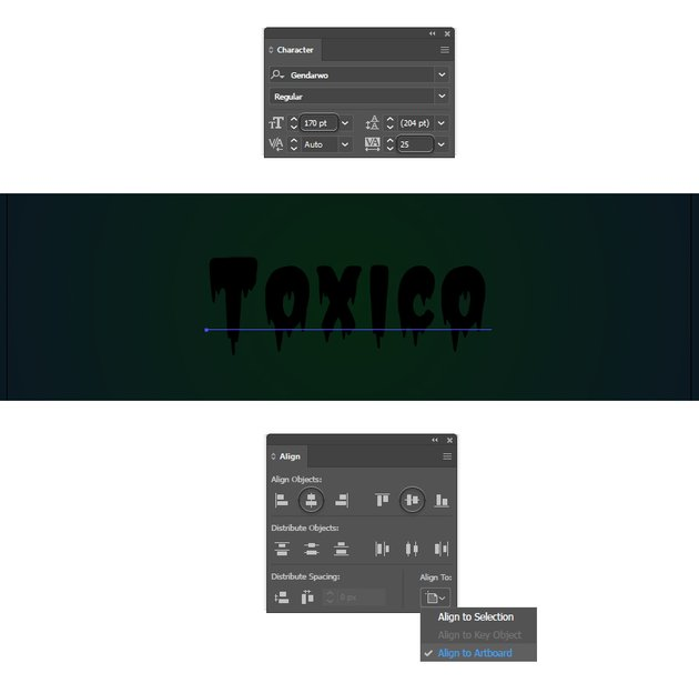 how to create the text in Illustrator