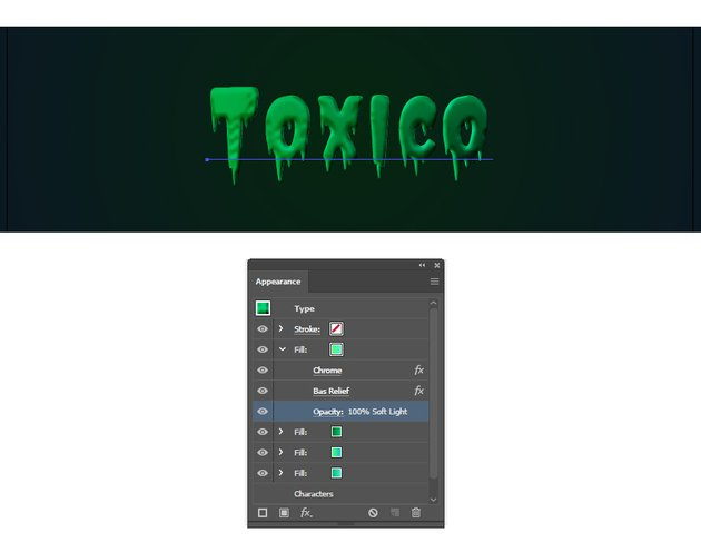 how to create a toxic green effect in Illustrator