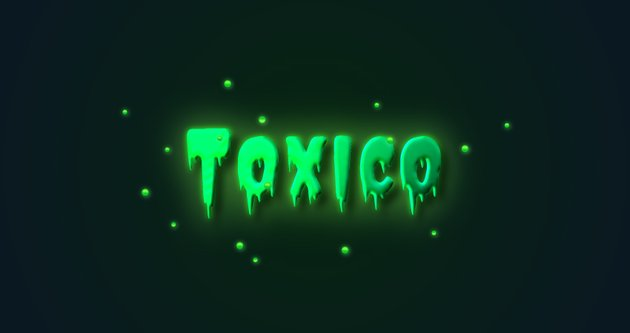 glow effect toxic text effect in Adobe Illustrator final image