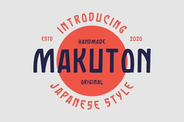 Makuton Font from Envato Elements recommendation