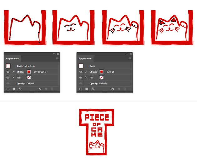 How to create a waving adorable Hanko cat character in Illustrator