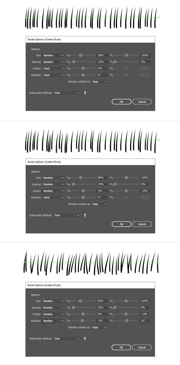 how to make grass in illustrator with a scatter brush
