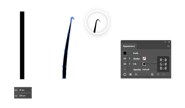 how to make a brush in illustrator to create bent grass