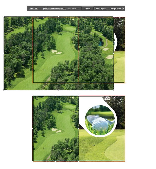 how to add background image on left fold of illustrator brochure