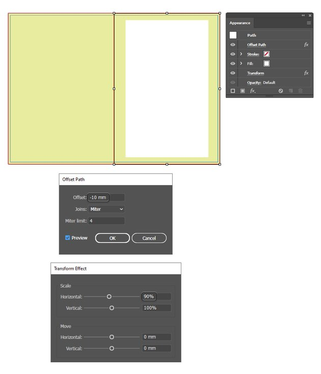 how to create the background for inside layout of brochure template in illustrator
