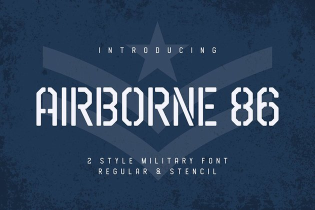 second military stencil font recommendation from Envato Elements