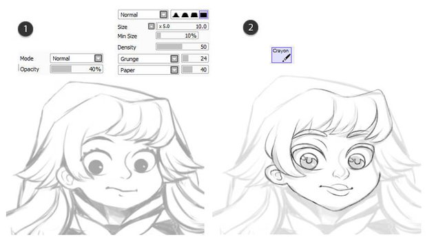 Turning sketch into line art