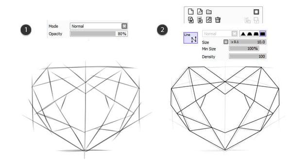 Make a line work based on sketch