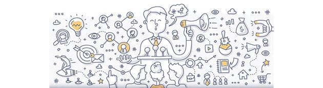 Influencer Marketing Doodle Concept