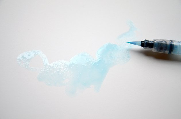 Start painting with your watercolors