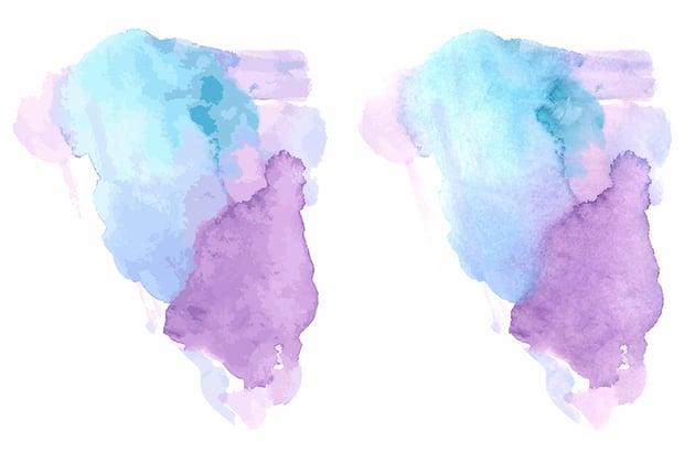 A comparison between watercolor textures