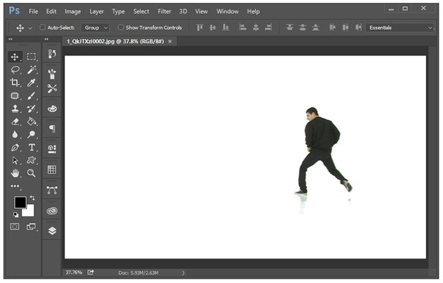Open your images in photoshop