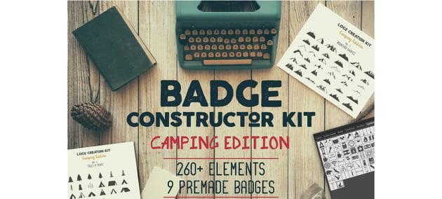 Badge Constructor Kit - Camping Edition