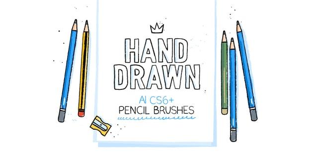 172 Illustrator Pencil Brushes