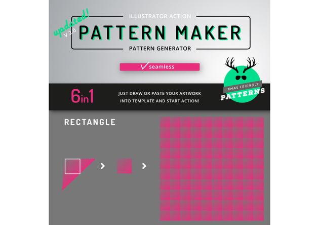 Pattern Maker - Illustrator Action