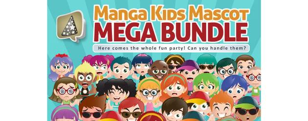 Manga Kids Mascot Mega Bundle
